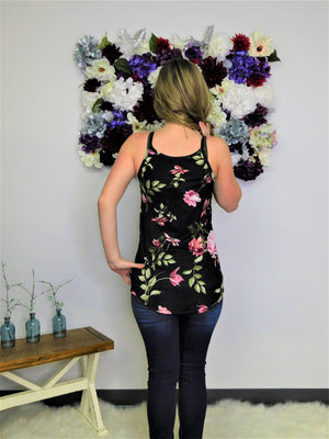 Don't Look Back Floral Print Tank Top