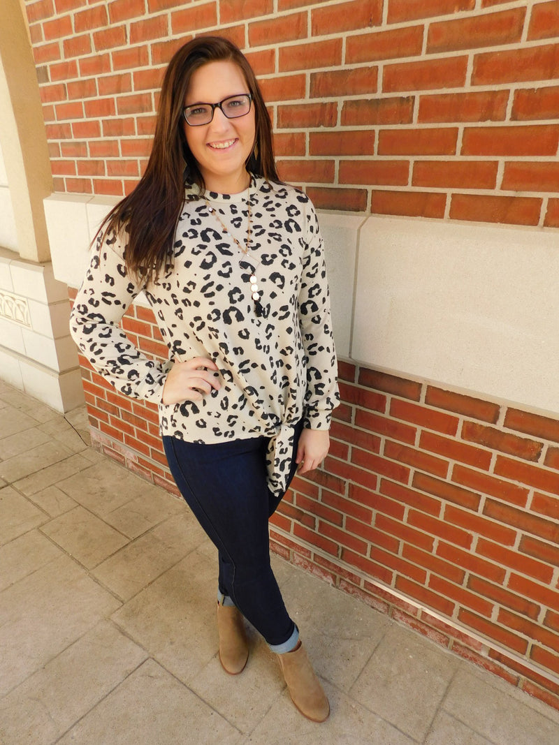 It's A Wild Life Animal Print Long Sleeve Top