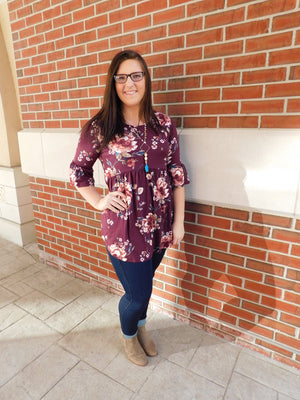 Love Somebody Floral Print Tunic Top