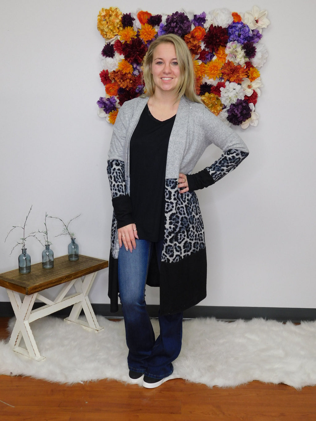 Show Me Your Wild Side Color Print Block Long Cardigan