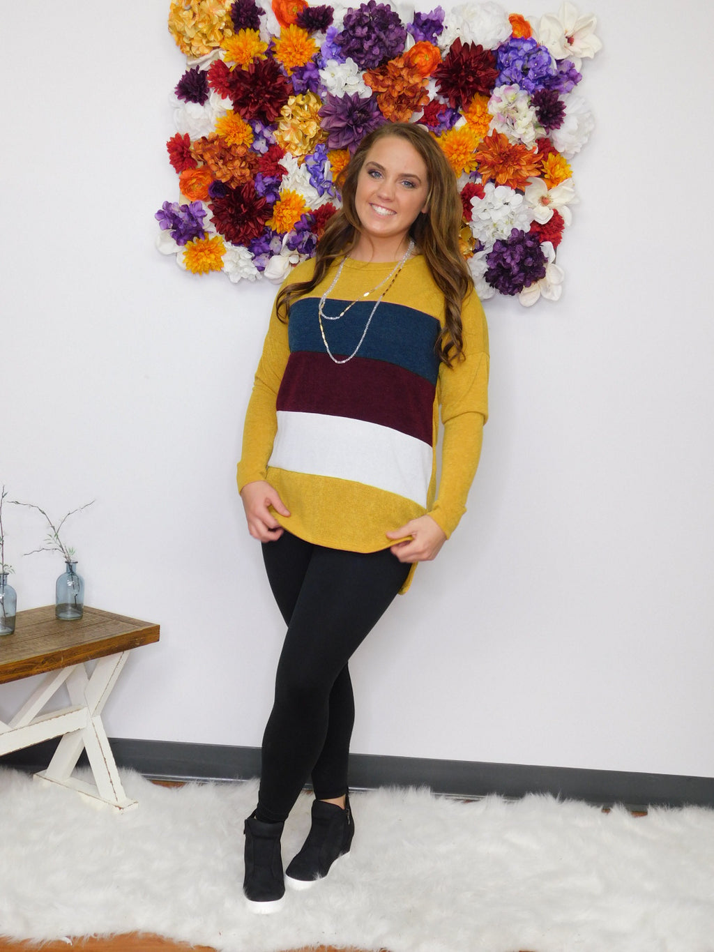 Color Me Happy Color Block Tunic