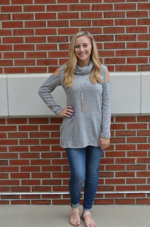 Cloud 9  Cold Shoulder Sweater