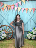 Set In Stone Striped Maxi Dress