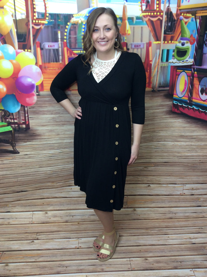 Final Sale Clearance It's A Good Thing Solid Wrap Dress