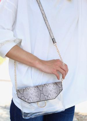 Tailgate Clear Crossbody Bag
