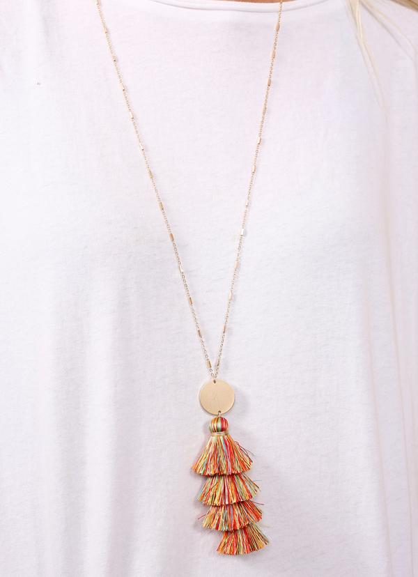 Tara Triple Tassel Necklace