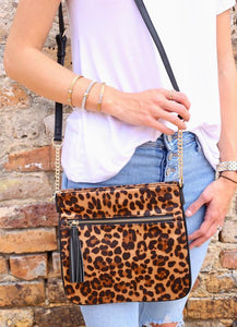 Bernice Crossbody Bag With Zip Pocket and Tassel