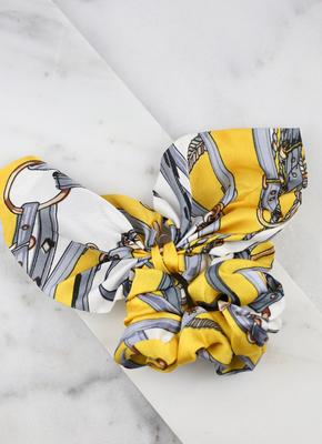 Printed Scrunchie With Tie