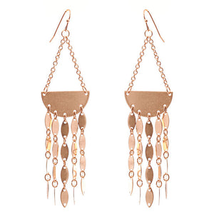 Half Moon Earrings With Chain Detail