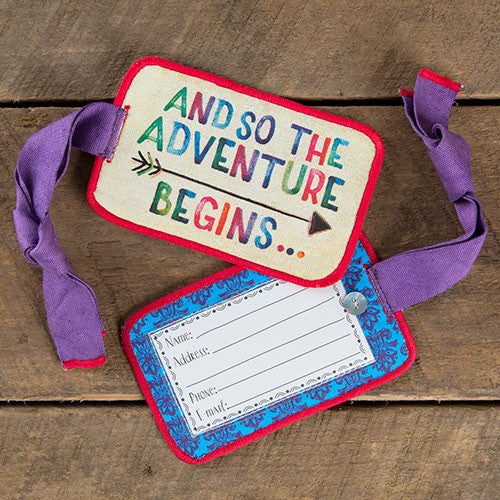 "Natural Life ""And So the Adventure Begins"" Luggage Tag"