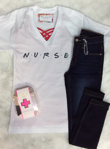 Nurse Friends V-Neck Tee