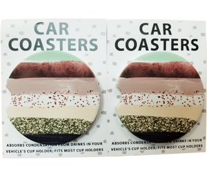 Fall Feels Car Coaster - Rose Gold/Mint