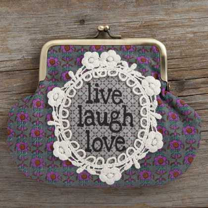Natural Life Live Laugh Love Boho Coin Purse