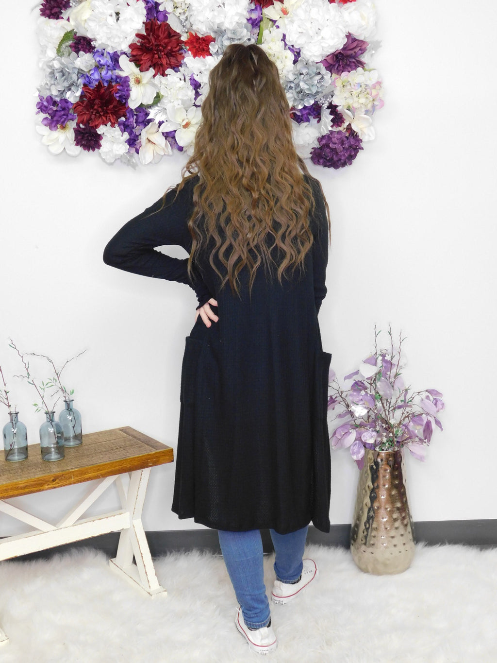 Gonna' Love It Long Cardigan - Black