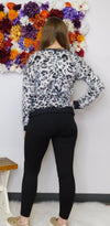 One Moment In Time Leopard Print Fuzzy Sweater-Final Sale