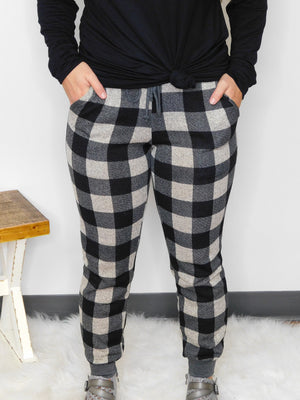This Is How I Roll Plaid Jogger Pants