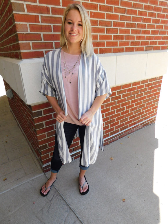 Tell Me More Striped Kimono Cardigan