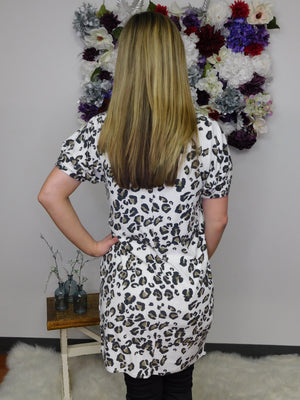 It's A Wild Day Animal Print French Terry Shift Dress