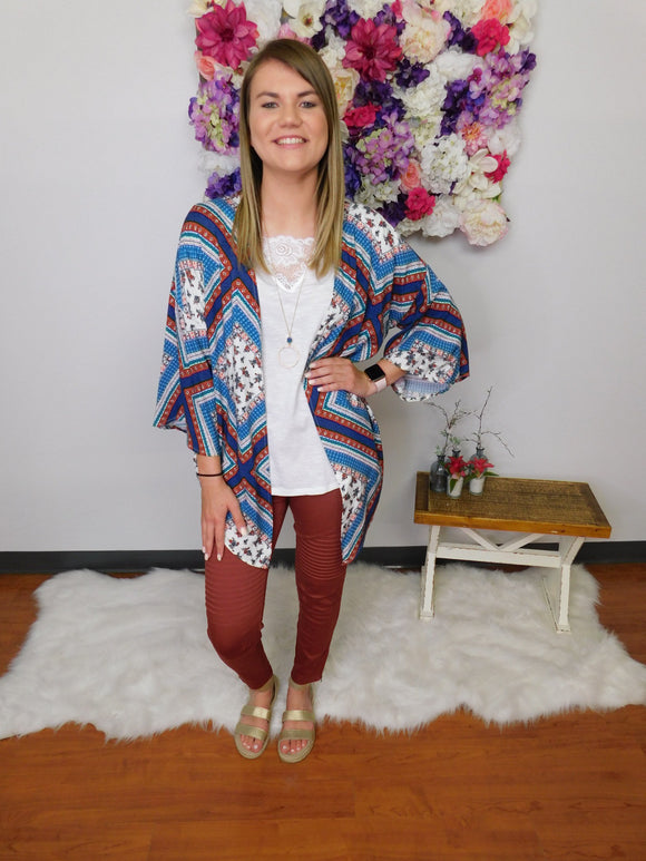 I've Got A Secret Admirer Multi Print Kimono