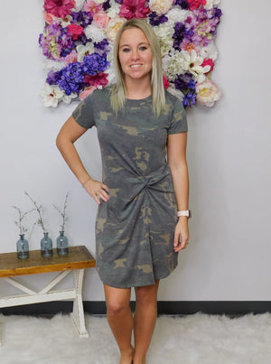 Girl Without Limits Camo Print Dress
