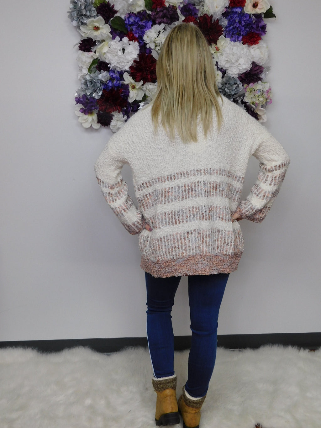 Sweater Weather Multicolored Open Front Cardigan Sweater