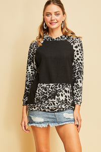 Easy Going Soft Animal Print Hoodie