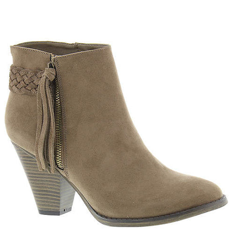 MIA Bootie with Braided Detail and Fringe Zipper