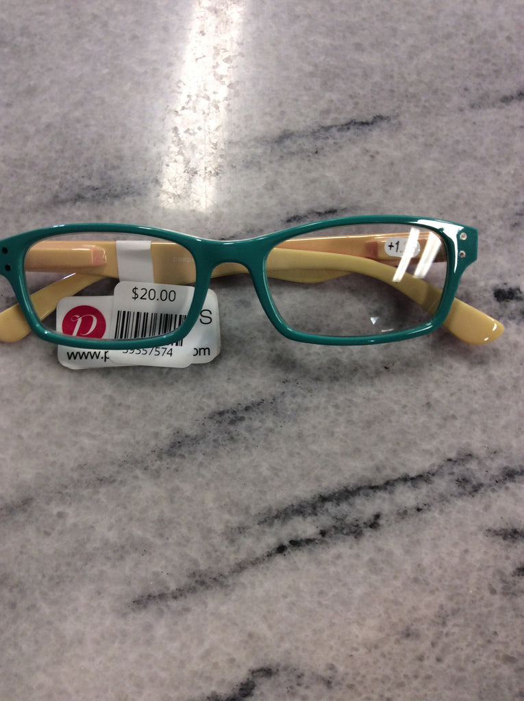 Lighten Up-Green, Red, Yellow Reading Glasses
