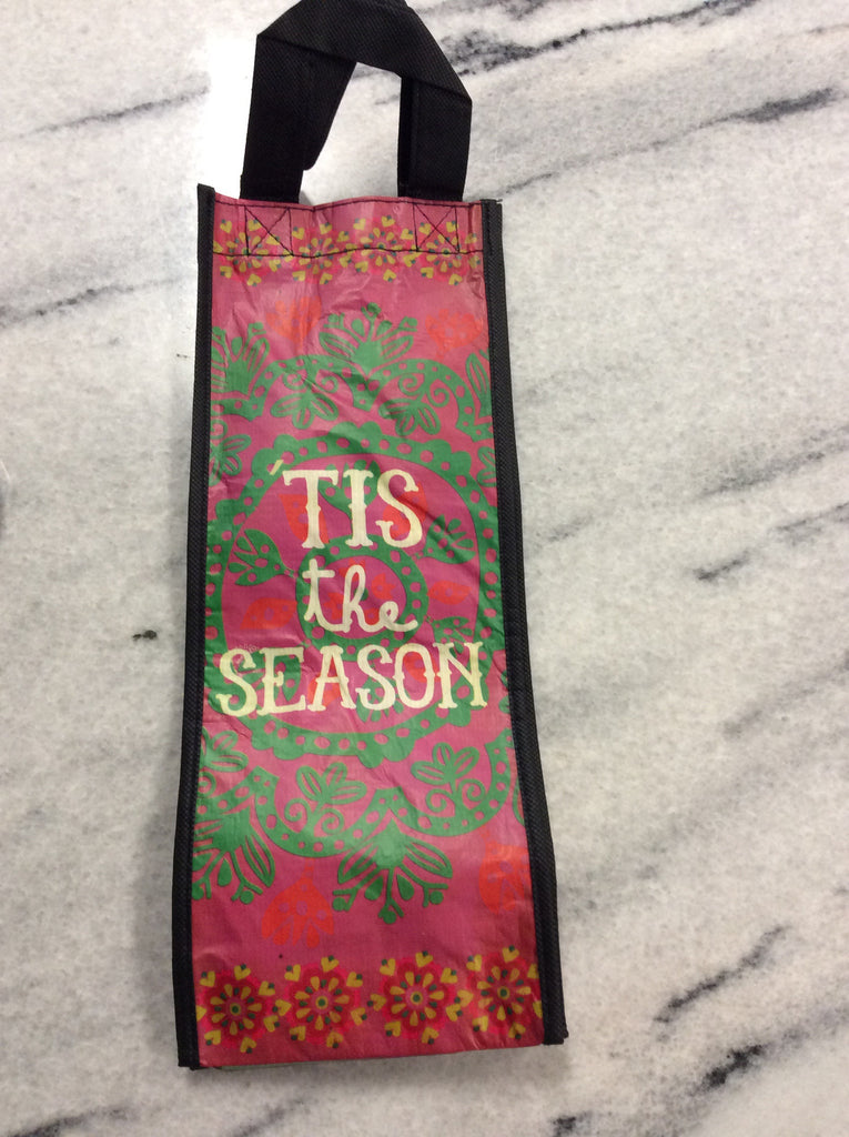 "Natural Life ""Tis The Season"" Wine Gift Bag"
