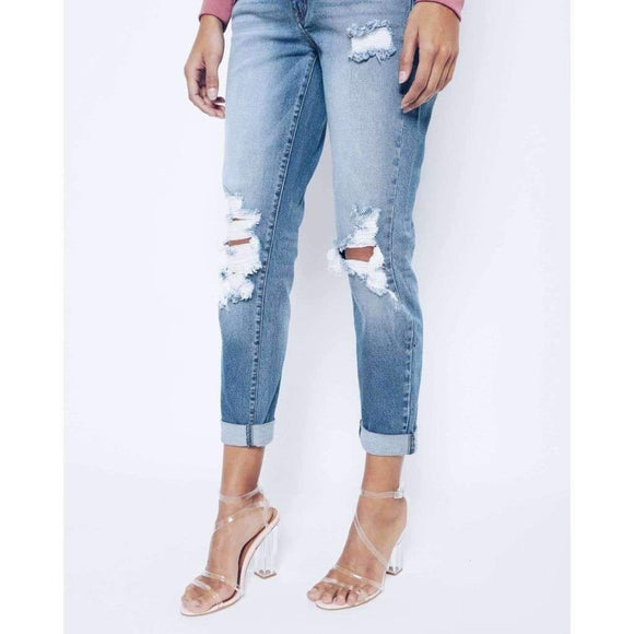 Kan Can Sweet & Ragged Distressed Skinny Jeans
