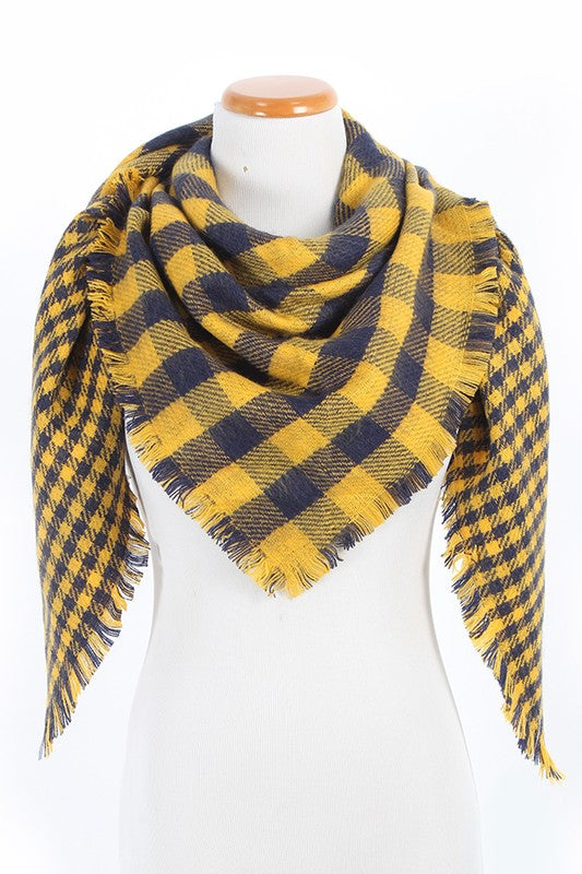 Wrap Me In Warmth Plaid Scarf