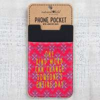 "Natural Life ""One Kind Word"" Phone Pocket"