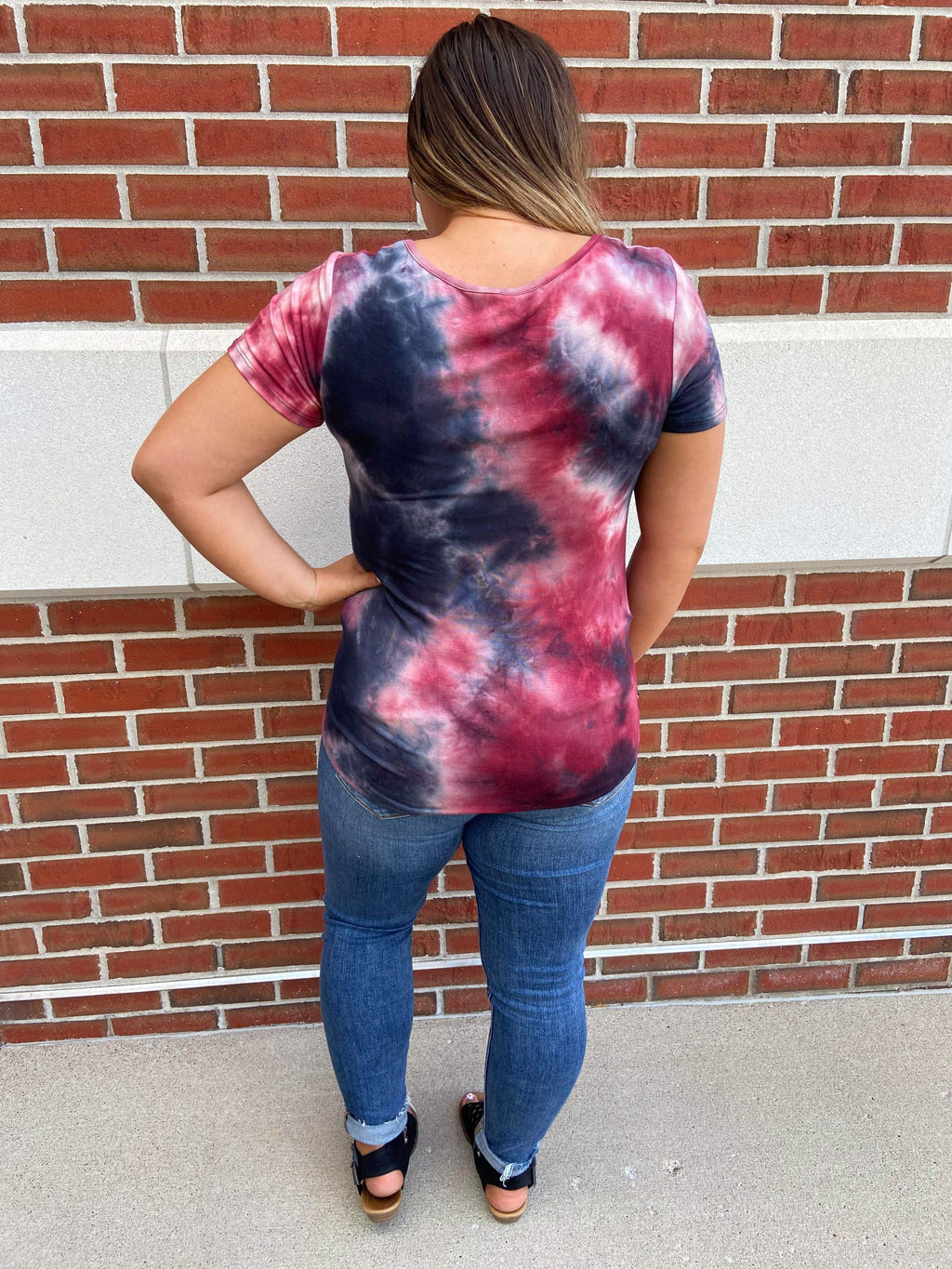 Tie Dye Multi Criss Cross Top