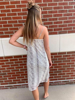 Snake Print Spaghetti Strap Dress