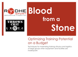 Lecture - Blood from a Stone