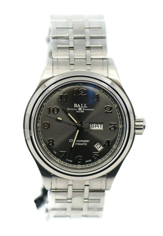 Ball Cleveland Power Glow Stainless Steel Watch NM1058D-SCJ-GY