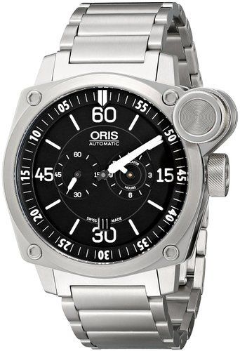 Oris BC4 Flight Timer Chronograph Stainless Steel Watch 749-7632-4194-MB