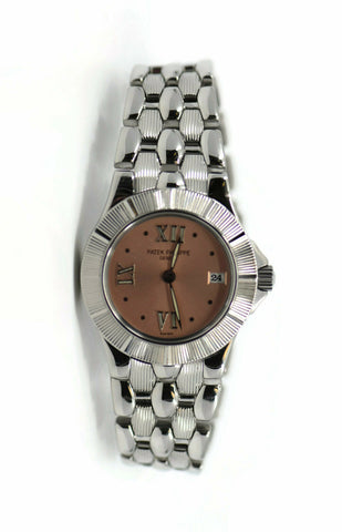 Patek Philippe Neptune Pink Dial Stainless Steel Watch 4880