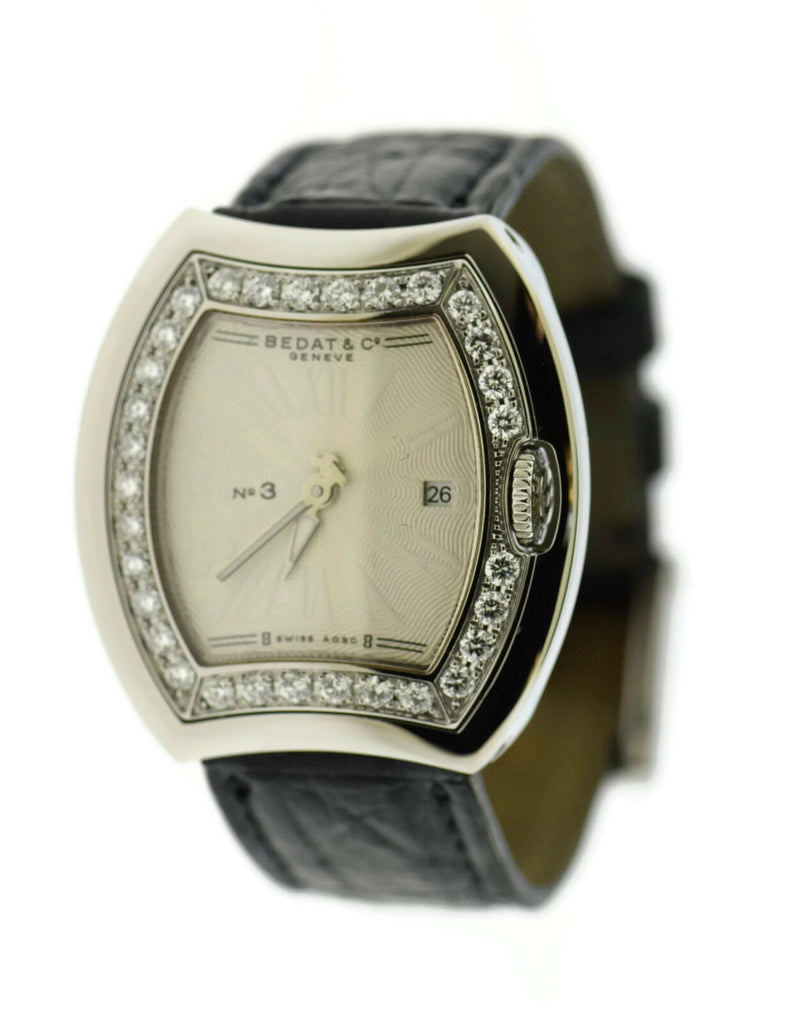 Bedat & Co No 3 Diamond Stainless Steel Watch 334
