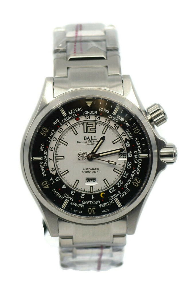 Ball Engineer Master II Worldtime Stainless Steel Watch DG2022A-SA-WH