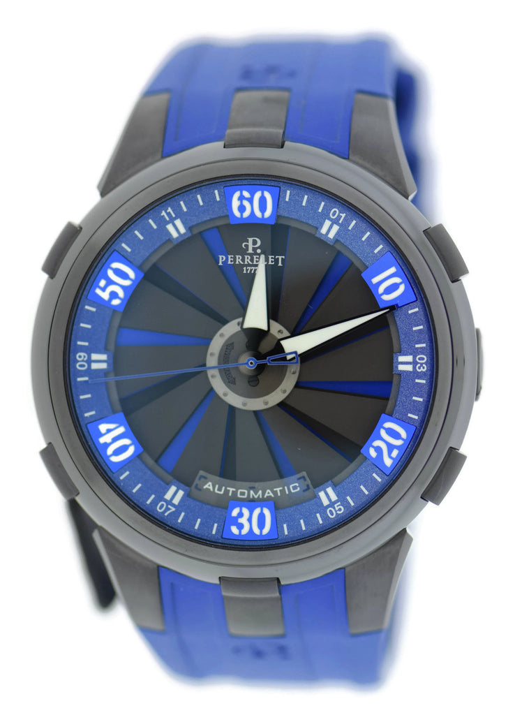 Perrelet Turbine Racing XL Blue Stainless Steel Watch A1051/8