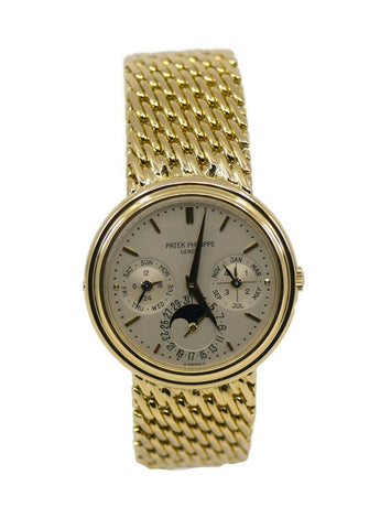 Patek Philippe Perpetual Calendar 18K Yellow Gold Watch 3945
