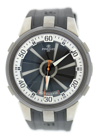 Perrelet Turbine XL Double Rotor Titanium Stainless Steel Watch A1050/4