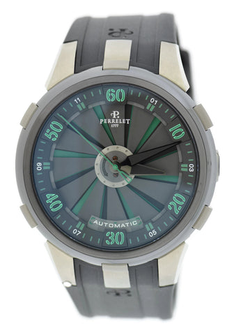 Perrelet Turbine Racing XL Green Stainless Steel Watch A1051/3
