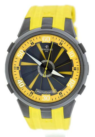 Perrelet Turbine Racing XL Yellow Stainless Steel Watch A1051/7
