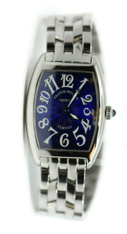 Franck Muller Curvex Blue Dial Stainless Steel Watch 1752 QZ