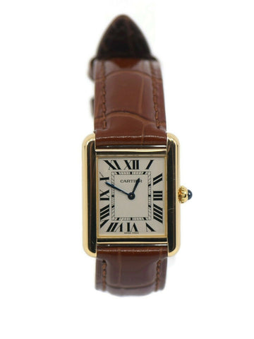 Cartier Tank Solo 18K Yellow Gold Watch 2743
