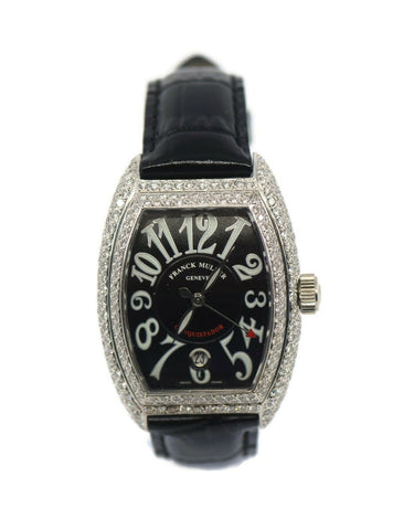 Franck Muller Conquistador Diamond 18K White Gold Watch 8001SC