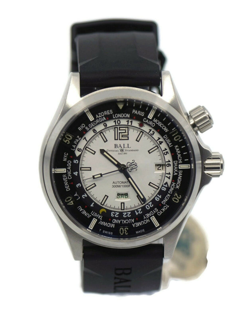 Ball Engineer Master II Worldtime Stainless Steel Watch DG2022A-P1A-WH
