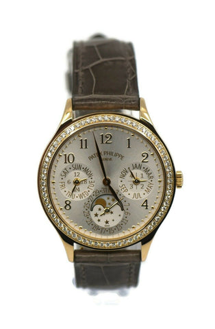 Patek Philippe Perpetual Calendar Diamond 18K Rose Gold Watch 7140R